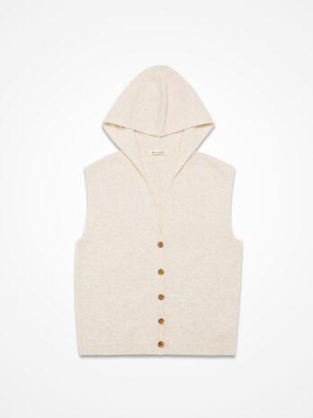 Hoodie Vest Cardigan
