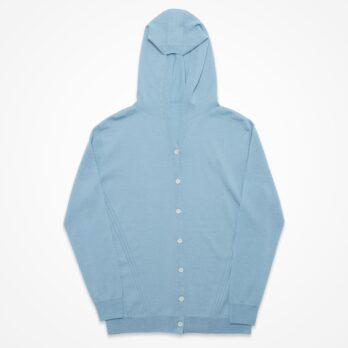 Hoodie Cardigan / IVORY, L.BLUE