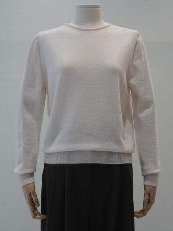 Round-neck wool100 pullover
