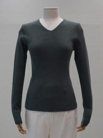 V-neck RIB pullover